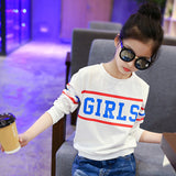 Girls T Shirts Kids Spring Summer Shirts For Girls Long Sleeve Patchwork Girls T-Shirt Tops 6 8 9 10 12 Years Big Girls Clothes - thefashionique