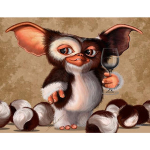 Gizmo Gremlins 5D Diamond Painting Kit Cute Diamond Embroidery Cross Stitch DIY Rhinestone Mosaic Full Square Wall Decor L633 - thefashionique