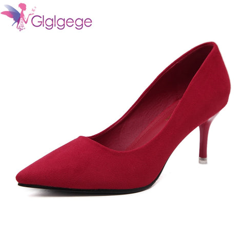 b2e35f0fed6 Glglgege 2018 Best Quality Big Size 36-41 Thin Heels Elegant Spring Career  Office Shoes