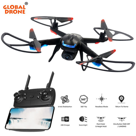 Global Drone GW007-3 RC Quadrocopter FPV Drones with Camera HD High Hold Mode Easy to Operate Mini Dron with HD Camera - thefashionique