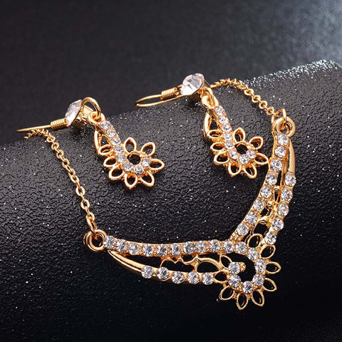 H:HYDE 4 Design Rose Gold Color Bridal Jewelry Sets & More for Women Wedding with High Quality AAA Zircon - thefashionique