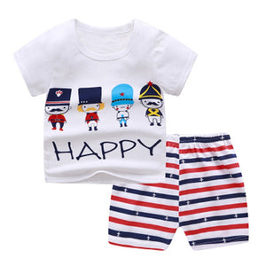 Summer Baby Boy Clothing Sets Cartoon Bear Brand Boys Girl Clothes 1 2 3 4 Years Kids Set Cotton T-shit + Short Pants