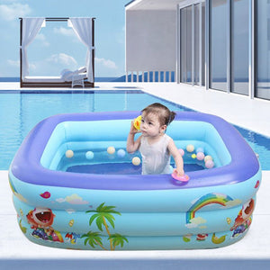 Inflatable Swimming Pool Summer Thick Safe Inflated Bathtub Outdoor Garden Baby Kids Adult Water Fun Play Bathing Tub