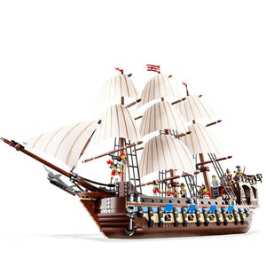 Pirates Imperial Caribbean Building Blocks Set Flagship Model Building DIY Compatible 10210 22001 Christmas Gifts For Kids
