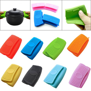 Portable 1 Pair Silicone Oven Mini Gloves Heatproof Anti-scalding Gloves for Cooking Clamp Pot Holders Potholders High Quality