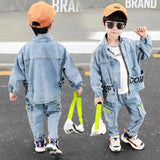 Baby Boy Clothes Set Boys Sport Suit Baby Boys Clothes Boys Sets Kids Clothes Denim Jacket+Jeans New Clothes For Boys 2T-8T