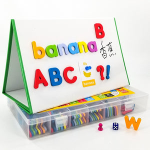 Magnetic Letter Recognition Spelling Game Stickers English Educational Magnetic Decoration Sticker for Home Kindergarten School
