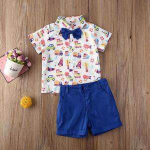 1-6Years  Toddler Baby Boy Summer Outfits Tops Shirt Shorts Pants Gentleman Party Suit