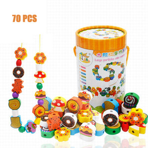 Rainbow Stacking Ring Tower Stacking Folding Cup Stapeling Blocks Wood Plastic