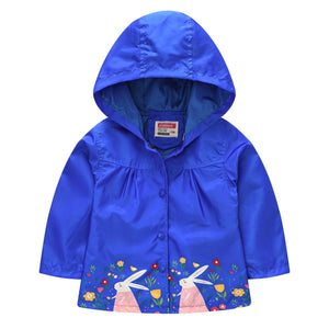 Spring Kids Waterproof Coat For Girl Baby Trench Coats Kids Baby Jacket Infant (Blue)