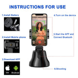Apai Genie Auto Smart Shooting Selfie Stick 360° Object Tracking Holder All-in-one Rotation Face Tracking Camera- Free Shipping