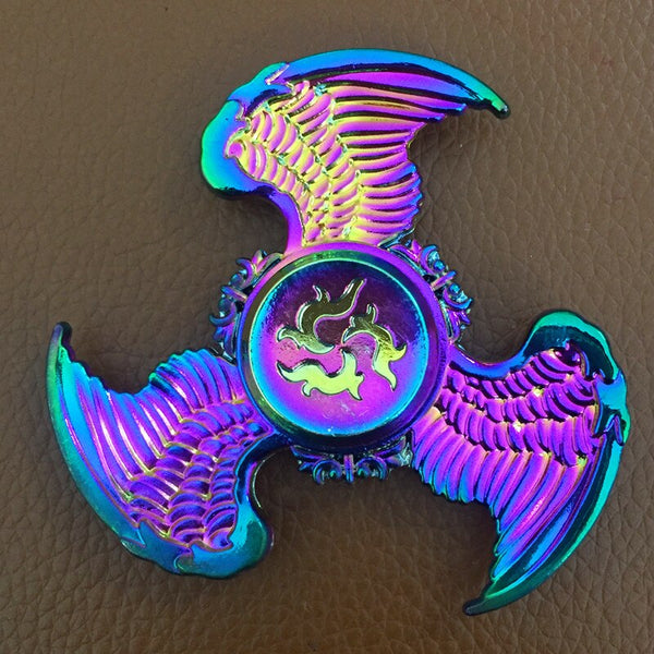 Ghost Flying Eagle Rainbow Hand Finger Fidget Spinner Electroplate Hybrid Bearing Zilver Zinc Alloy Metal EDC Hand Tri spiner