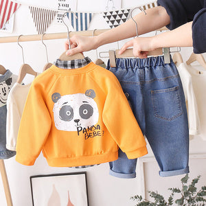 Toddler Infant Clothes Suits Baby Boys Girls Clothing Top Coat Shirt Pants Jeans Children Kids Casual Coatume Tracksuit Set