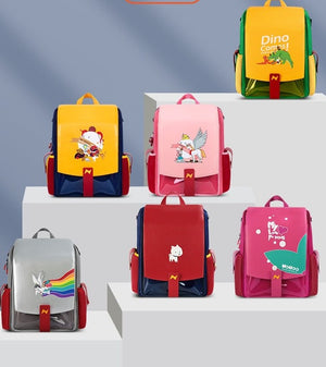 3 Piece Set Children School Bags for Boys Girls Unicorn Primary School Backpack Waterproof Book Bags for 6-15 Years Old