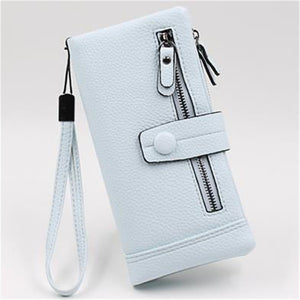 Women Long Wallet Many Departments Female Wallets Clutch Lady Purse Zipper Phone Pocket Card Holder Ladies Carteras