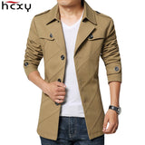 HCXY Brand 2017 New blazer men Business Casual Blazer Male Cotton Parka Men's slim fit suit Jackets Men Long Blazers Size M-4XL - thefashionique