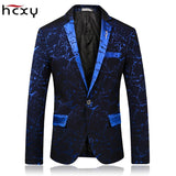 HCXY Brand 2018 spring Fashion Mens  Blazer Commerce Casual Slim Fit Prom Dress Blazer Men Stage Wear Blazers Male Suit Jacket - thefashionique