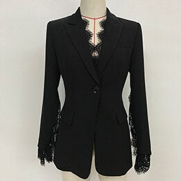 HIGH STREET 2019 New Stylish Designer Blazer Jacket Women's Lace  Blazer - thefashionique