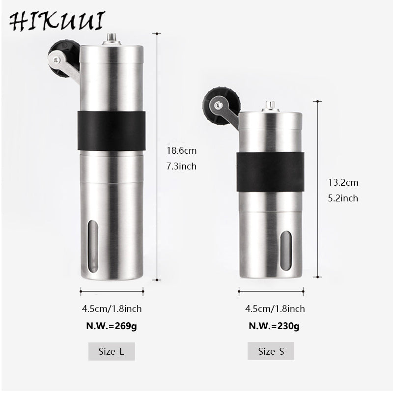 HIKUUI 1PC Manual Coffee Grinder 30/40g Washable Ceramic Core Home Kitchen Mini Hand Coffee Mill Household Useful Tool - thefashionique