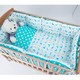 HPBBKD Baby Bed Bumper Protector Baby Bedding Set Newborn Crib Bumper Toddler Cartoon Bed Bedding in the Crib for Infant PJ-013 - thefashionique