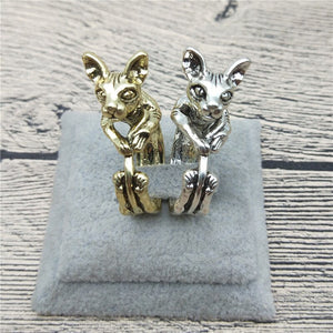 New Vintage Retro Sphynx Rings Classic Adjustable Sphynx Rings Women Sphynx Cat Jewellery