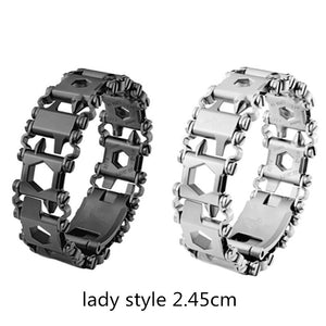 New Wearable Tread 2.45cm 29 In 1 Multi-function Tool Bracelet Strap Multi-function Screwdriver Outdoor Emergency Kit Multi Tool