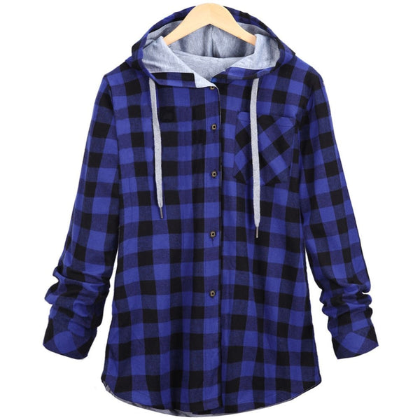 HZIJUE New Kanye West Hip hop Plaid Shirt Men High Street Fashion Swag Clothing Loose Hipster Longline HOOD Chemise S-XXL - thefashionique