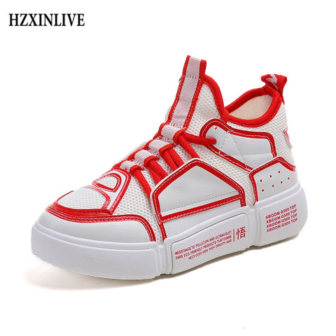 HZXINLIVE 2018 Woman Casual Shoes Non-slip Autumn Fashion Ladies Flat Shoes Women's Vulcanized Shoes Comfortable zapatos mujer