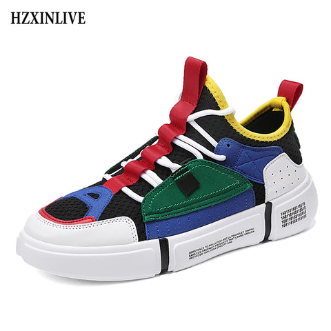 HZXINLIVE Fashion Wild 2018 Women's Casual Flats Mixed Colors Ladies Vulcanized Shoes Couple Shoes Comfortable Shallow lovers