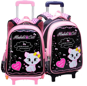 kids Student School bag/SET On wheels Children School Rolling backpacks for Children shoulder bag for Girls school Trolley bags