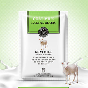 Han Chan Facial Mask Skin care Natto/Goat Milk Moisturizing Facial Mask Silk Mask Anti Wrinkle Whitening Nourishing Facial Mask - thefashionique