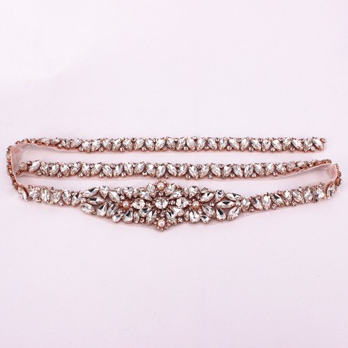 Handmade Hot Fix Rhinestones Appliques Accessory Full Length Rhinestone Appliques Sewing On Trims For Wedding Dresses Belt Patch - thefashionique