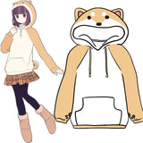 Harajuku Japanese Kawaii Hoodies Women Sweatshirts With Ears Cute Doge Muco Winter Plush Lovely Muco ! Anime Hooded Hoodies - thefashionique