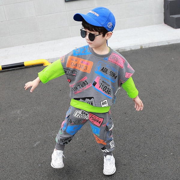Fashion Letters 3PCS Clothing Set For 2-9T Children Boy High Quality Boys Clothes Spring Autumn Clothing Set
