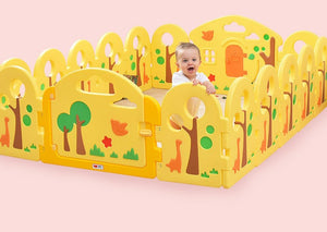 Children's Play Fence Baby Playpen Crawling Mat Toddler Learning Walking Guardrail