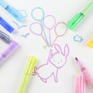 8pc Double-line Art Highlighter Color Magic Outline Marker Pen Drawing Marker Pen Art School Painting Learning - Free Shipping