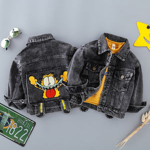 Garfield Denim Baby Boys Clothing Jean Outerwear Spring Autumn Cartoon Jackets