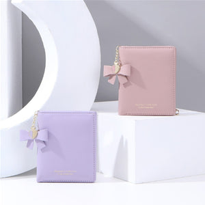 Short Women's Wallet for Woman Small Wallets Leather Coin Purse Ladies Fashion Female Wallet Mini for Student Card Holders