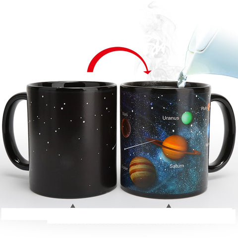 Heat Changing Mug Color Changing Cup Galaxy Magic Coffee Mug Disappearing Heat Sensitive Porcelain Tea Cup 12 Ounce 2018 Hot - thefashionique