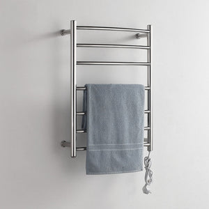 Heating 50 degree thermostatic 7 bars towel bars stainless steel polished wall mounted towel rack 220V suitable w/ switch - thefashionique