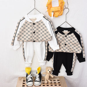 New Tracksuit Boys and Girls Clothing 2pcs Kids Fashion Sports Baseball Uniform Kids Tracksuit for Girls Costume Outfit