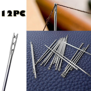 Old Man Side Blind Needle 12pcs Thick Big Eye Self-threading Steel Sewing Needles Hand Gold Set Embroidery Stainless Tool#50