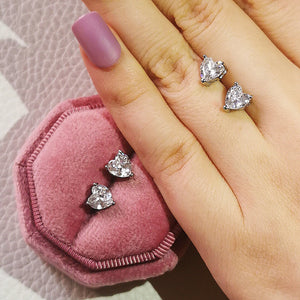 New Arrival Fashion Luxury 925 Sterling Silver Pink CZ Drop Stud Earing For Women Valentine's Day Gift Z5
