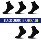High Quality Casual Men's Business Socks For Men Cotton Brand Crew Autumn Winter Black White Socks meias homens 5 Pairs Big Size - thefashionique