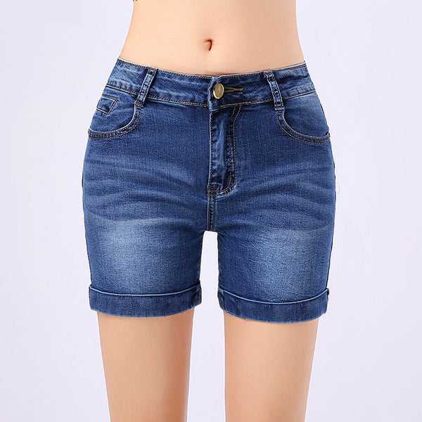 High Quality Embroidery Shorts for Women Elasticity Cotton Denim Shorts Slim Plus Size 26-36 Sexy Casual Summer Short Pants