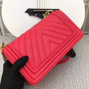 High-end Luxury Genuine Women's Handbags Bag Leisure Fashion V-pattern Shoulder Bags For Women Crossbody Square Purse Bag