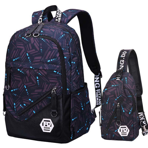 High quality school bags waterproof large backpack for teenagers bagpack college school backpack for boy student travel bag - thefashionique