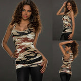 Hirigin Women Casual Sleeveless Vest Tank Tops T-Shirt Camouflage Summer Vest Top Holiday - thefashionique