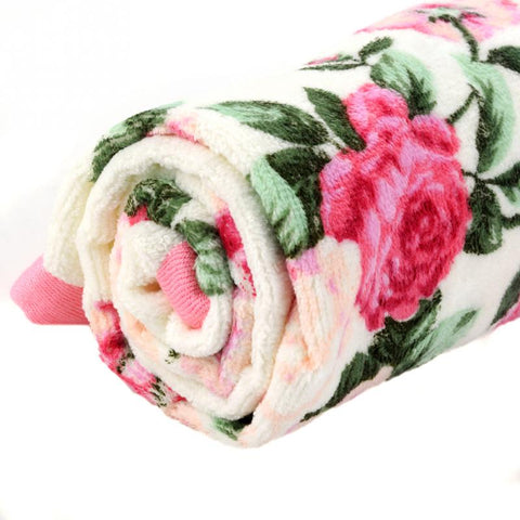 Home Hotel Soft Cotton Face Flower Towel Bamboo Fiber Quick Dry Bathroom Towels Facecloth 34*75cm - thefashionique