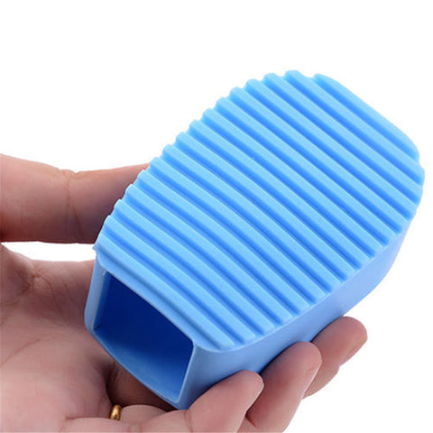 Home Kitchen Silicone Cleaning Brush Makeup Cleaner Washing Scrubber Tool Laundry Hand Handle Silicone Soap Brushes B1862 - thefashionique